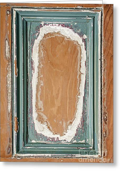 Vintage Wooden Door Panel  Greeting Card