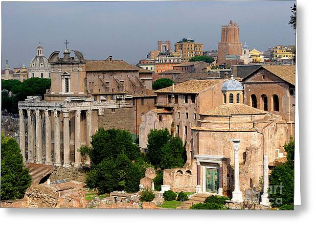 Greeting Card featuring the photograph Visions Of Rome by Nancy Bradley