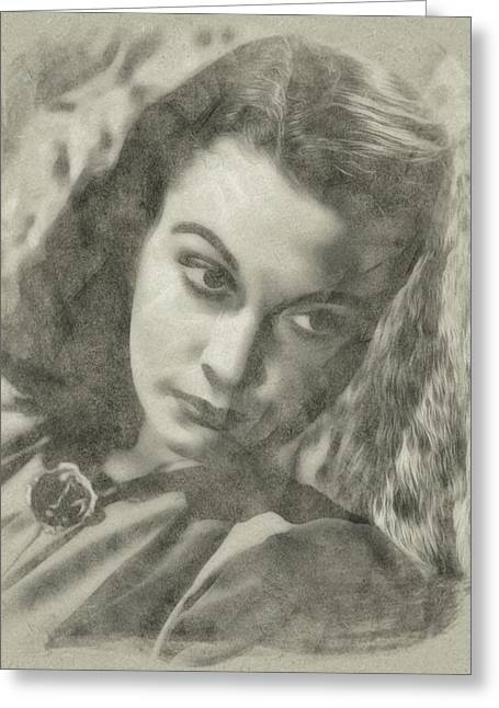 Vivien Leigh Greeting Card by John Springfield