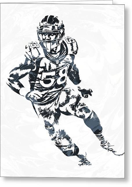 Von Miller Denver Broncos Pixel Art 4 Greeting Card