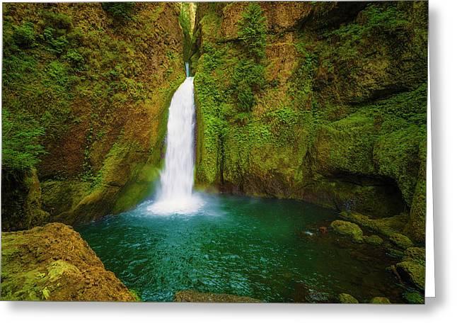 Wahclella Falls Columbia River Gorge Greeting Card