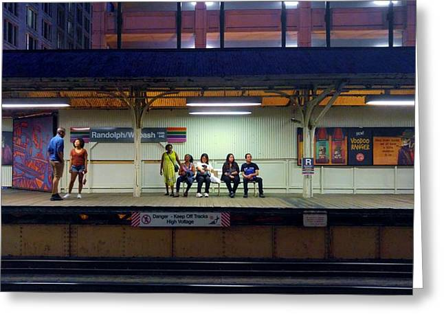 Waiting For The Train Greeting Card