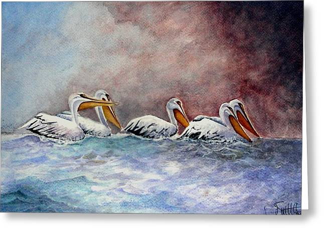 Waiting Out The Storm Greeting Card by Jimmy Smith