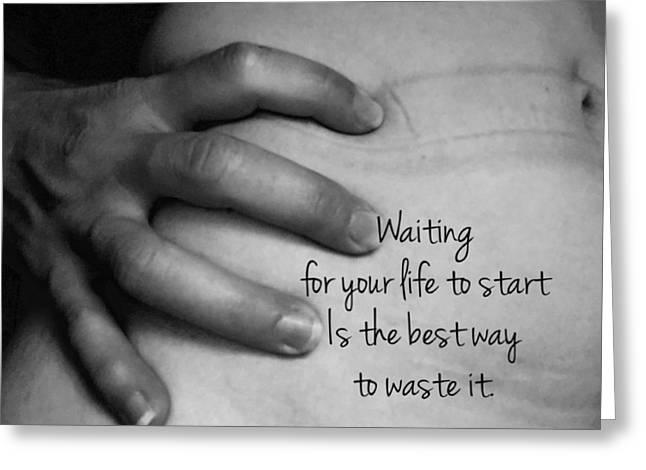 Waiting Greeting Card by Sara Young