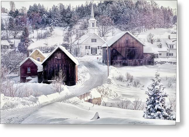 Waits River, Vt Greeting Card by George Robinson