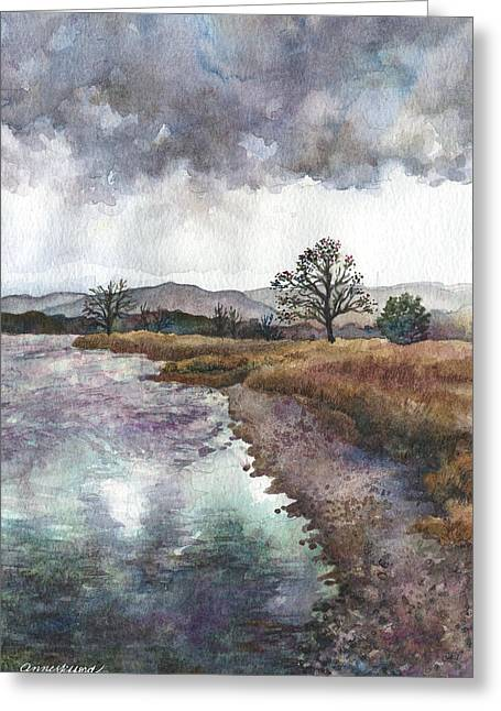 Walden Ponds On An April Evening Greeting Card