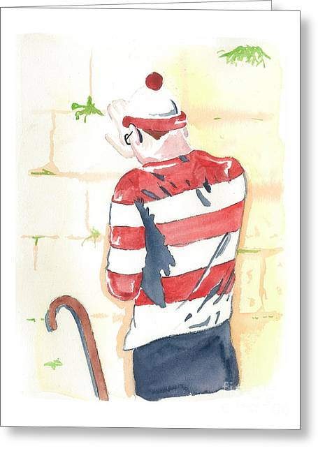 Waldo Finds Himself Greeting Card by Anshie Kagan