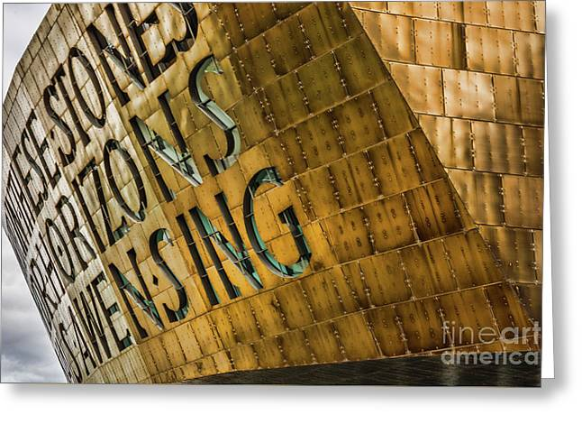 Wales Millennium Centre Greeting Card by Steve Purnell