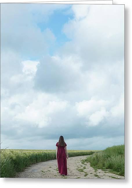 Walking In The Summer Greeting Card by Joana Kruse