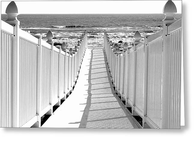Walkway To Beach Greeting Card