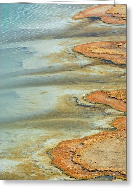 Wall Pool In Yellowstone National Park Greeting Card