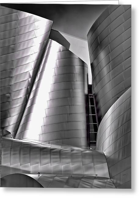Best Sellers -  - Stainless Steel Greeting Cards - Walt Disney Concert Hall Greeting Card by Andre Salvador
