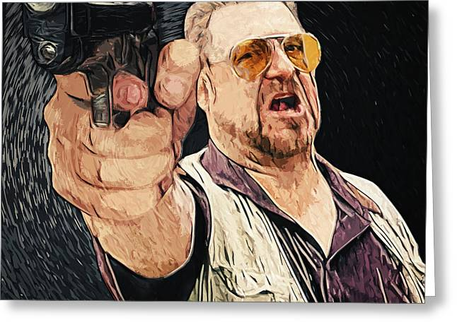 Walter Sobchak Greeting Card by Taylan Apukovska