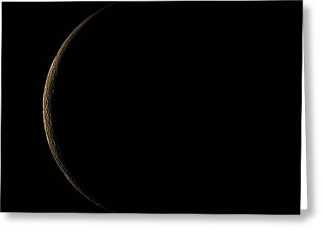 Waning Crescent Moon Greeting Card by Eckhard Slawik