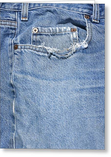Worn Jeans Greeting Card