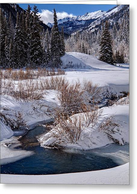 Wasatch Mountains In Winter Greeting Card by Utah Images