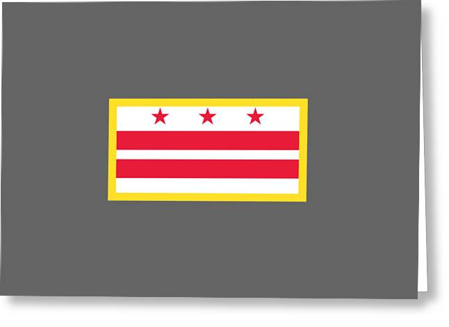 Washington, D.c. Flag Greeting Card by Frederick Holiday