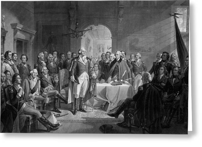 Washington Meeting His Generals Greeting Card