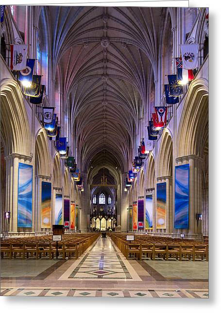 Washington National Cathedral - Washington Dc Greeting Card by Brendan Reals