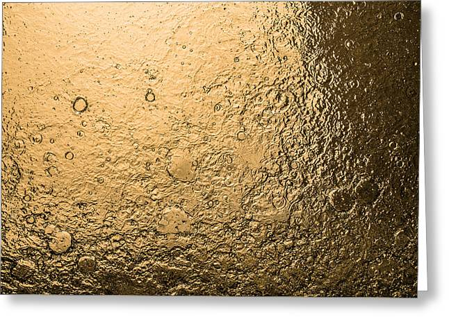 Water Abstraction - Liquid Gold Greeting Card by Alex Potemkin