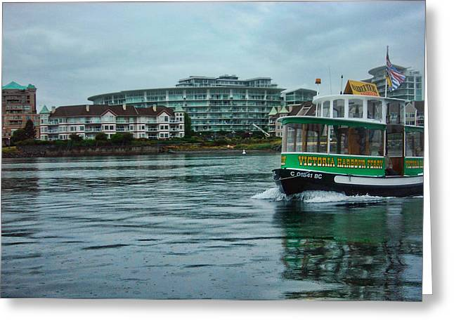 Water Bus Greeting Card by Anastasia Michaels
