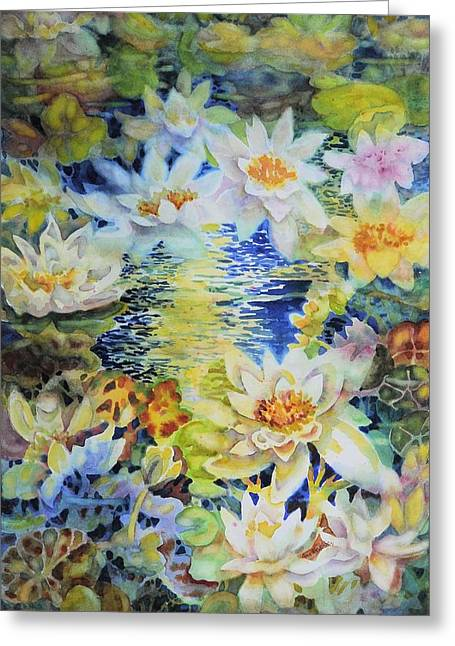 Water Garden Greeting Card by Ann  Nicholson