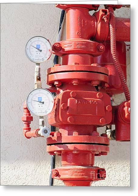Water Pressure Gauge  Greeting Card