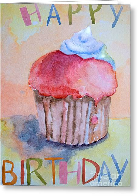 Watercolor Illustration Of Cake  Greeting Card
