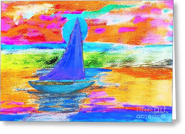 Watercolor Sailing Greeting Card