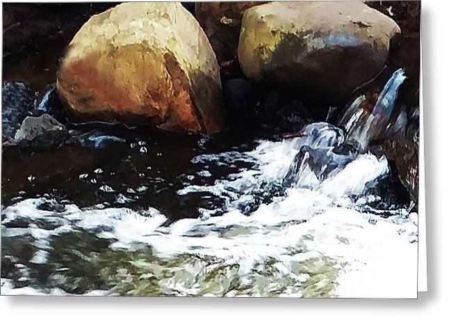 Waterfall Abstract Greeting Card