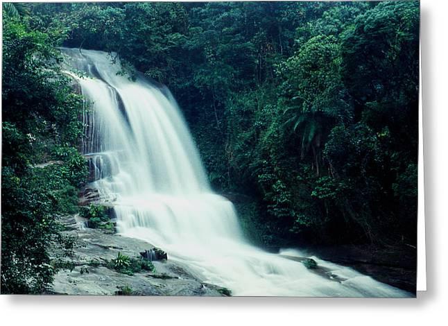 Waterfall Greeting Card by Amarildo Correa