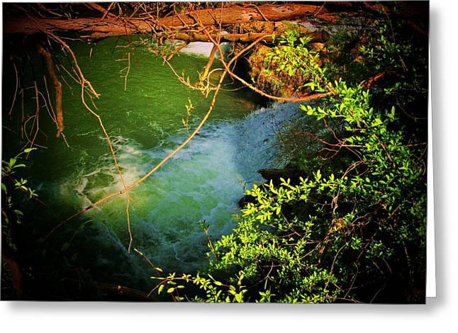Northern Virginia Greeting Cards - Waterfall and Lagoon Greeting Card by Joyce Kimble Smith