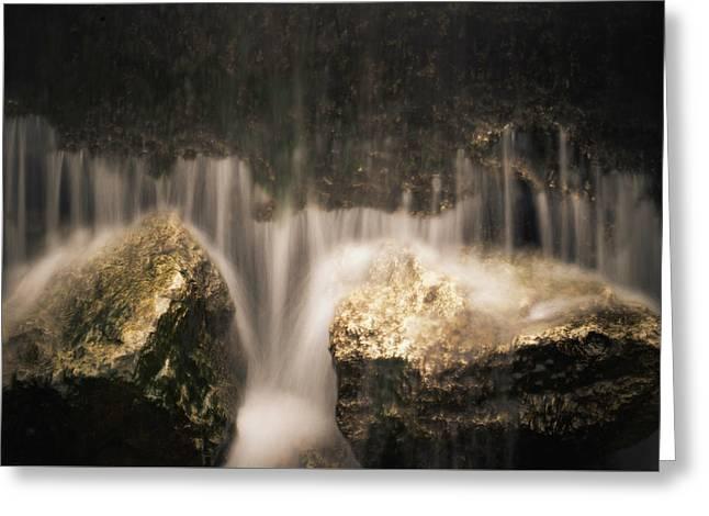 Waterfall Detail Greeting Card by Scott Meyer