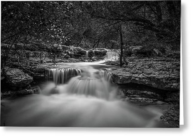 Waterfall In Austin Texas Greeting Card