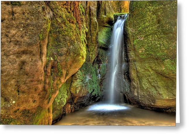 Waterfall Greeting Card by Jaroslaw Grudzinski