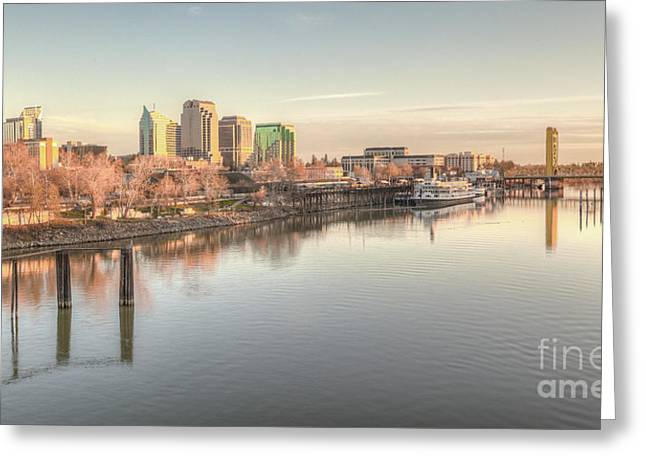 Greeting Card featuring the photograph Waterfront Wonder  by Charles Garcia