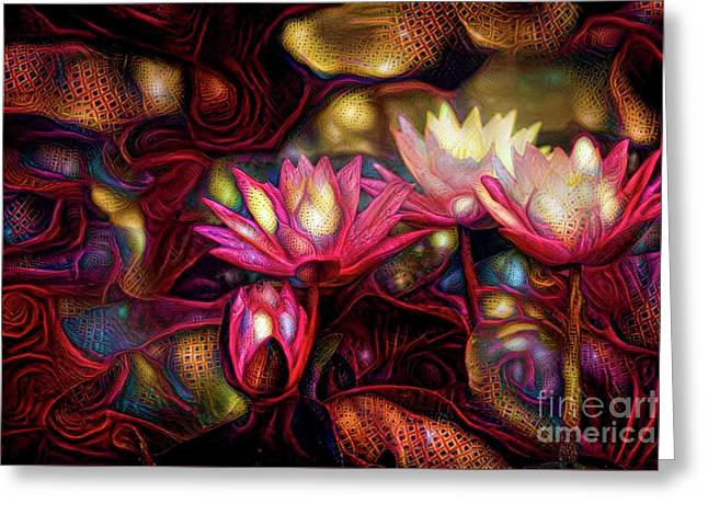 Waterlilies 7 Greeting Card by Amy Cicconi