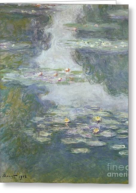 Pool Life Greeting Cards - Waterlilies Greeting Card by Claude Monet