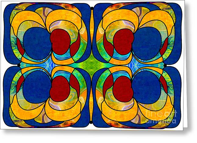 Watery Worlds Abstract Design Artwork By Omaste Witkowski Greeting Card by Omaste Witkowski