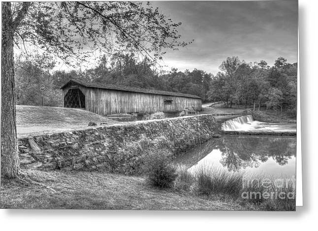Watson Mill Covered Bridge 7 Greeting Card by Reid Callaway