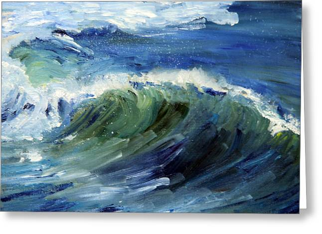 Wave Action Greeting Card by Michael Helfen