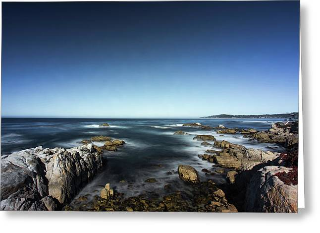 Greeting Card featuring the photograph Wave Blowing By The Stong Wind At Th Pacific Ocean Coast With Ro by Jingjits Photography