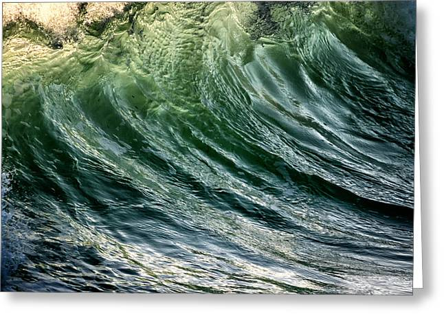 Wave Greeting Card by Stelios Kleanthous