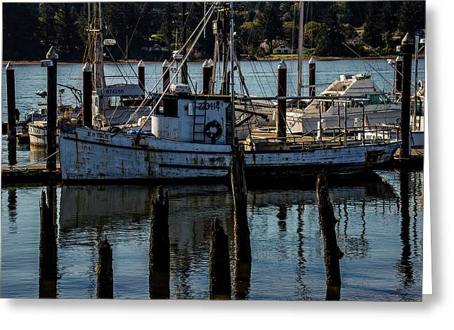 Weathered Fishing Boat Greeting Card
