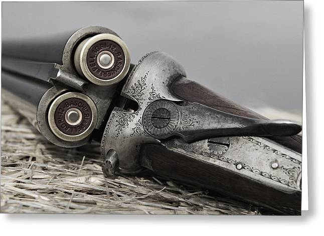 Faded Greeting Cards - Webley and Scott 12 Gauge - D002721a Greeting Card by Daniel Dempster