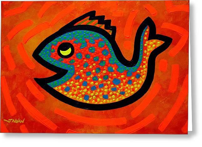 Weekend Fish Greeting Card by John  Nolan