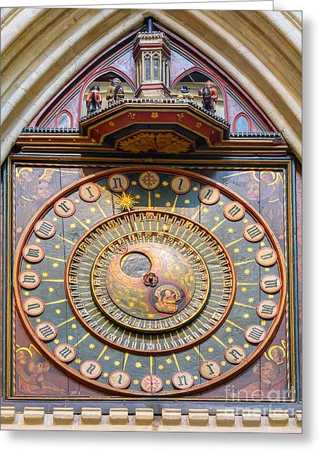 Wells Cathedral Clock Greeting Card