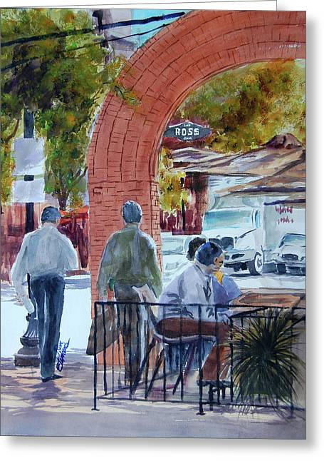 West End Arch At Ross Greeting Card