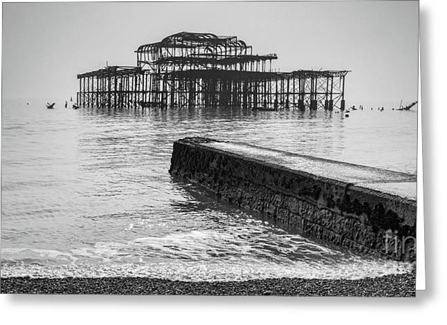 West Pier At Brighton Greeting Card by Colin and Linda McKie