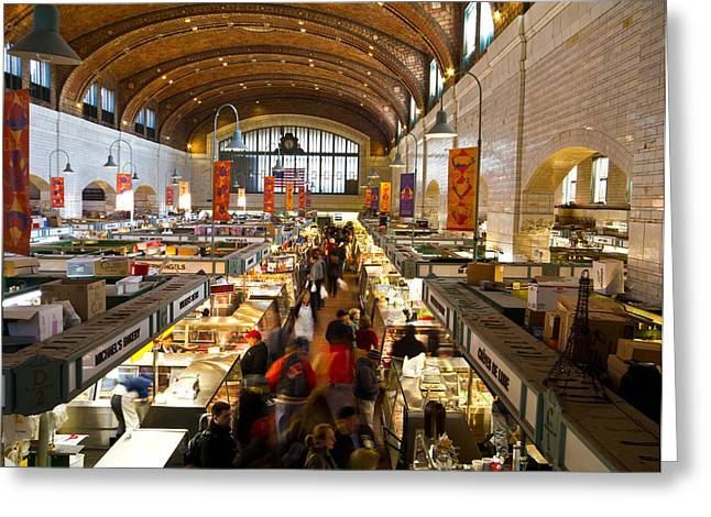 West Side Market  Greeting Card by Tim Fitzwater